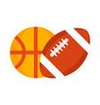 football and basketball balls vector image