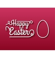 Happy Easter Typographical Background on red vector image