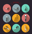 0515 1 for tailors cutting out scissors v vector image vector image