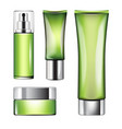 a set of perfumes for skin care vector image