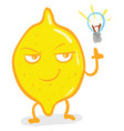 a smart yellow lemon or color vector image vector image