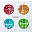 aim icons set on sample background vector image vector image
