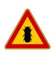 Bark beetle warning sign