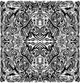 black and white artistic ornament mandala vector image vector image