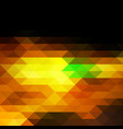 black brown yellow green rows of triangles vector image vector image