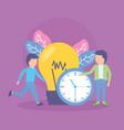 businessmen bulb creativity vector image