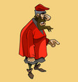 cartoon bearded man in medieval clothes of a vector image vector image