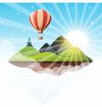 cartoon island landscape fir vector image vector image
