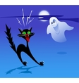 Cat and Ghost vector image vector image