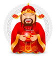 chinese god wealth vector image vector image