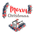 christmas presents and ornaments on background vector image vector image