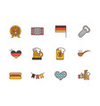 collection oktoberfest icons line filled vector image vector image