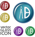 compass and protractor Education sign vector image vector image