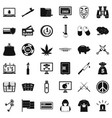criminal spam icons set simple style vector image vector image