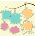 cute frames hanging vector image vector image