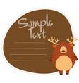 deer on note template vector image vector image