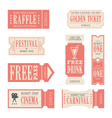 Festival and Carnival Tickets vector image vector image