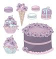 festive cake birthday party sweet vector image