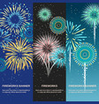 festive firework abstract vertical banners vector image vector image