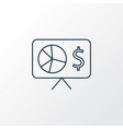 financial analytics icon line symbol premium vector image
