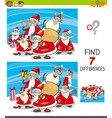 find differences with santa claus characters vector image vector image