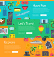 flat travel elements banners vector image vector image