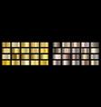 gold bronze golden metallic copper metal foil vector image vector image