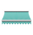 green white awning mockup realistic style vector image vector image
