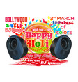 holi festival 2018 invitation poster to a party vector image vector image