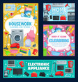home appliance cleaning washing sewing
