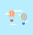 hot air balloon in clouds balloon in the sky vector image vector image