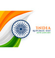 indian republic day creative background vector image vector image