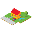 isometric house 1 vector image