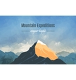 Landscape With Mountain Peak 2 vector image vector image