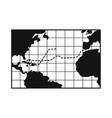 Map trips of Columbus icon simple style vector image vector image