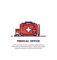 medical case banner vector image vector image