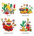 mexico culture concept vector image vector image