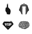 middle finger nimes and other web icon in black vector image vector image