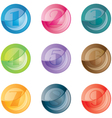 numbered colored buttons set icons vector image vector image