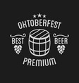 oktoberfest beer festival lettering typography vector image vector image