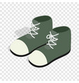 pair of green boots isometric icon vector image vector image