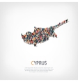 people map country Cyprus vector image