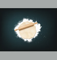 pin dough flour vector image