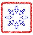 pressure arrows grunge framed icon vector image vector image