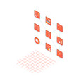 process icons isometric vector image