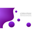 purple abstract fluid background vector image vector image