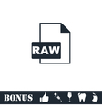 Raw icon flat vector image vector image