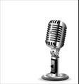 retro vintage microphone 2 vector image vector image
