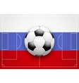Russia Flag and Championship of football vector image