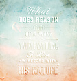 Rustic Inspirational Quote vector image vector image